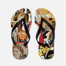 nurse collage mousepad Flip Flops
