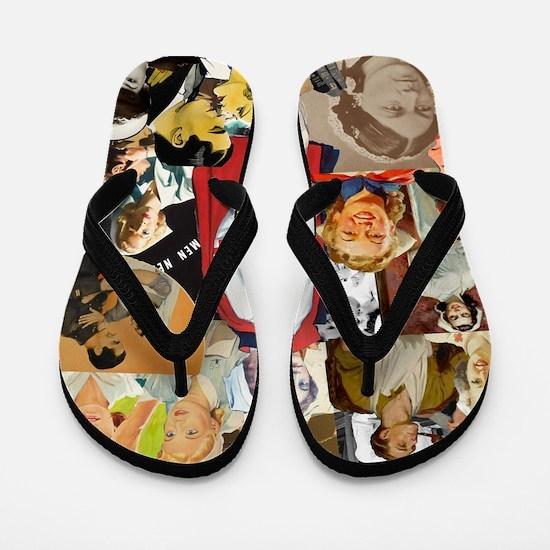 nurse collage mousepad Flip Flops