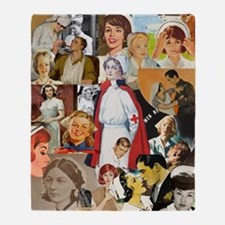 nurse collage mousepad Throw Blanket