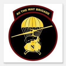 "8th-All-the-Way-Brigade Square Car Magnet 3"" x 3"""