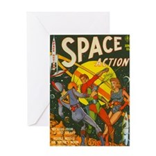 spaceactioncover Greeting Card