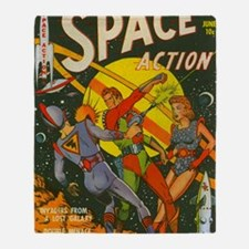 spaceactioncover Throw Blanket