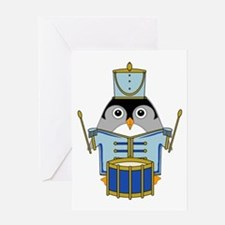 Little Drummerguin Greeting Card