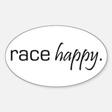 Race Happy Oval Decal