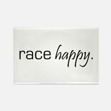 Race Happy Rectangle Magnet