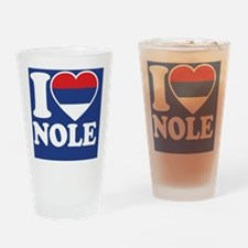 Nole Button1 Drinking Glass
