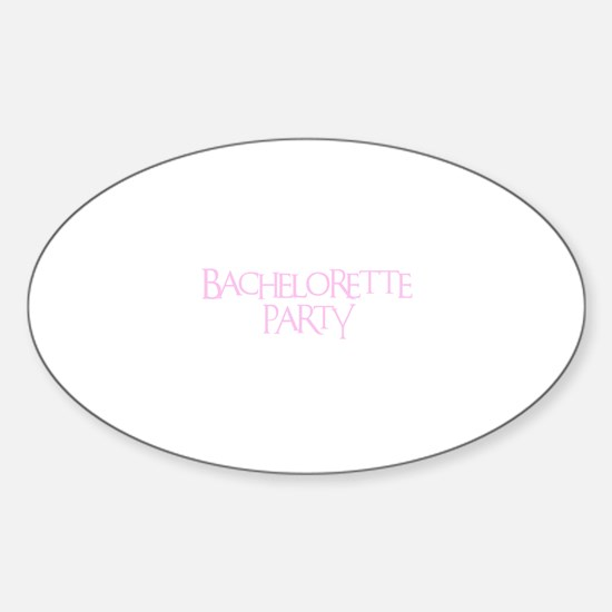 Bachelorette Party - Funky Pi Oval Decal