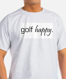 Golf Happy Ash Grey T-Shirt