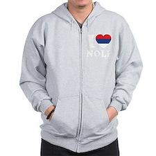 Nole Serbia -dk Zip Hoodie