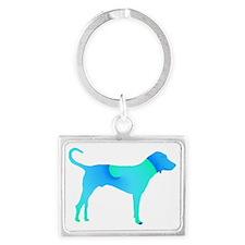 bluedog Landscape Keychain