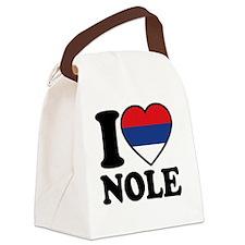 Nole Button2 Canvas Lunch Bag