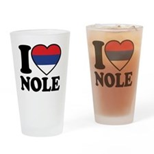 Nole Button2 Drinking Glass