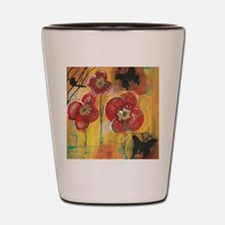 Poppies Shot Glass