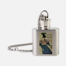 toulouse lautrec advertising poster Flask Necklace