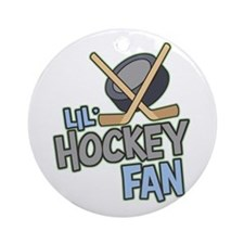 Lil' Hockey Fan Ornament (Round)