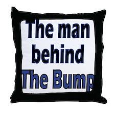 manbehindbump Throw Pillow