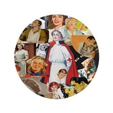"nurse collage pillow 3.5"" Button"