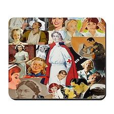 nurse collage pillow Mousepad