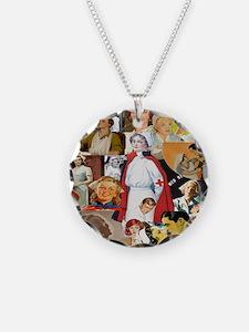nurse collage pillow Necklace