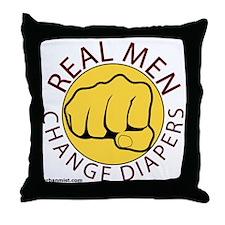 realmendiapers Throw Pillow