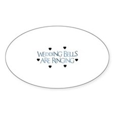 Wedding Bells Are Ringing - F Oval Decal