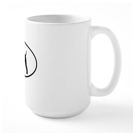 wirefoxterriersticker Large Mug