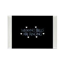 Wedding Bells Are Ringing - F Rectangle Magnet