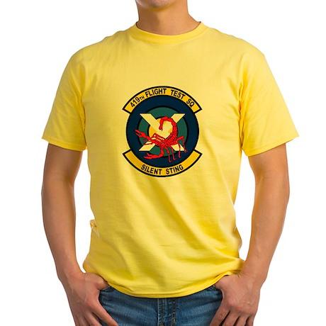 419th Flight Test Squadron Yellow T-Shirt