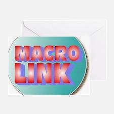 macrolinkKMstarBURSTcircle Greeting Card