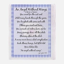 An Angel without wings BLUE Throw Blanket