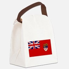 Canada-Red-postWWII Canvas Lunch Bag
