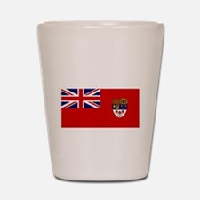 Canada-Red-postWWII Shot Glass