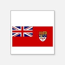 "Canada-Red-postWWII Square Sticker 3"" x 3"""