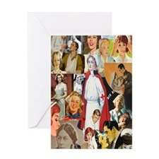 nurse collage journal Greeting Card