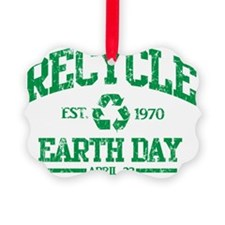 Earth Day Recycle Green Ornament