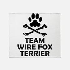 Team Wire Fox Terrier Throw Blanket