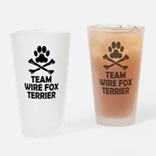 Team Wire Fox Terrier Drinking Glass