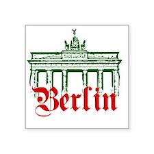 "Berlin Brandenburg Gate Square Sticker 3"" x 3"""