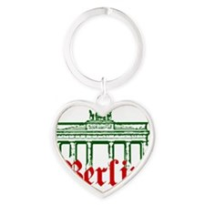Berlin Brandenburg Gate Heart Keychain