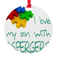 I love my son aspergers Ornament