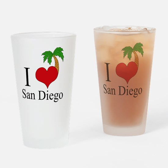 san diego Drinking Glass