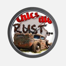 Chics Dig Rust Wall Clock