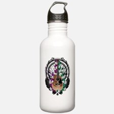 Acoustic guitar art Water Bottle