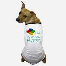 I love my son autism Dog T-Shirt
