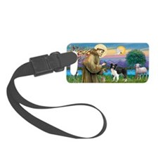 LIC-St Francis - Border Collie s Luggage Tag