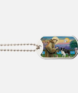 LIC-St Francis - Border Collie standing Dog Tags