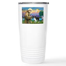 LIC-St Francis - Border Collie  Travel Mug