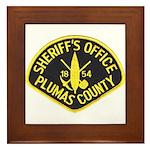 Plumas Sheriff Framed Tile