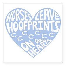 """Hoofprints Square Car Magnet 3"""" x 3"""""""