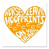 Horse jumping Car Magnets